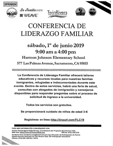 Family Leadership Conference Spanish